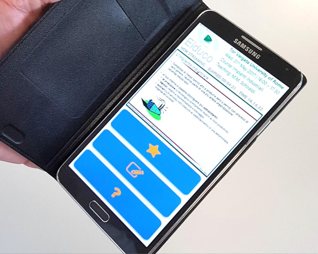 Figura 1: interfaccia di Eiduco, vista da smartphone (fase sperimentale)